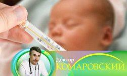 высокая температура у ребенка без симптомов комаровский