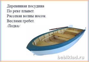 загадка про лодку