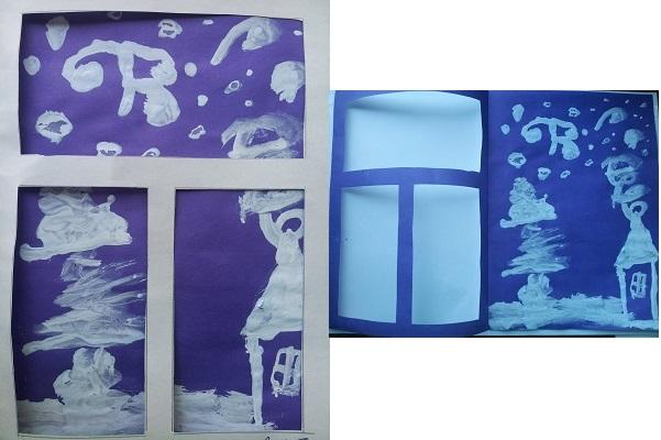 зимнее окно из бумаги